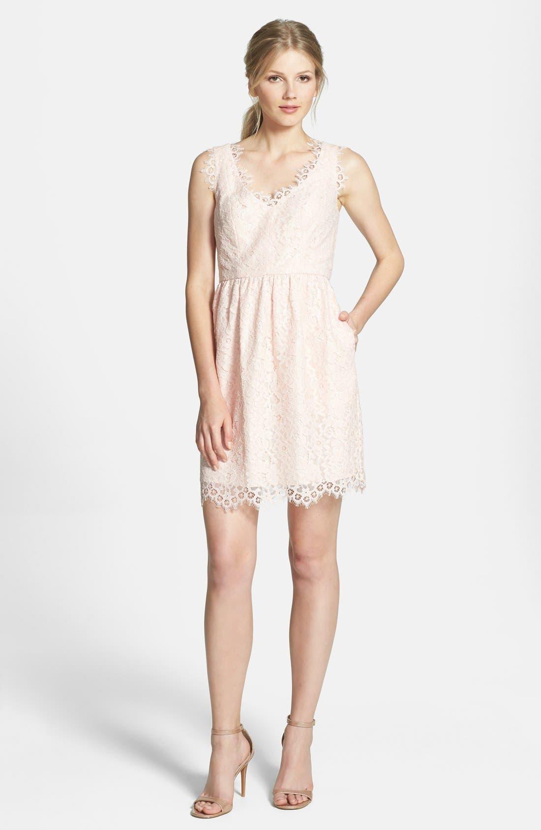 Alternate Image 3  - Shoshanna 'Sierra' Lace Fit & Flare Dress