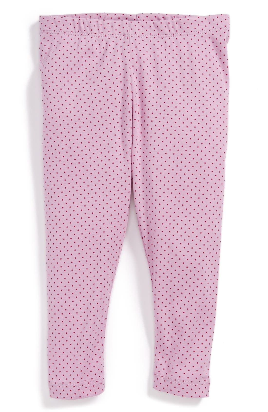 Alternate Image 1 Selected - Tea Collection Dot Print Capri Leggings (Toddler Girls, Little Girls & Big Girls)