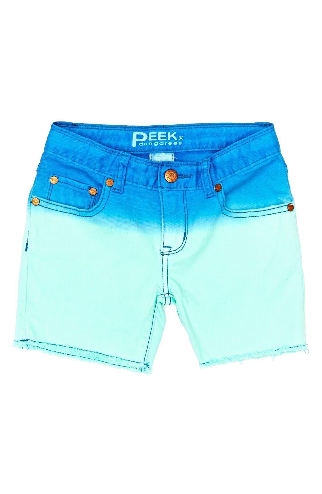 Alternate Image 2  - Peek 'Griffin' Dip Dye Shorts (Toddler Girls, Little Girls & Big Girls)
