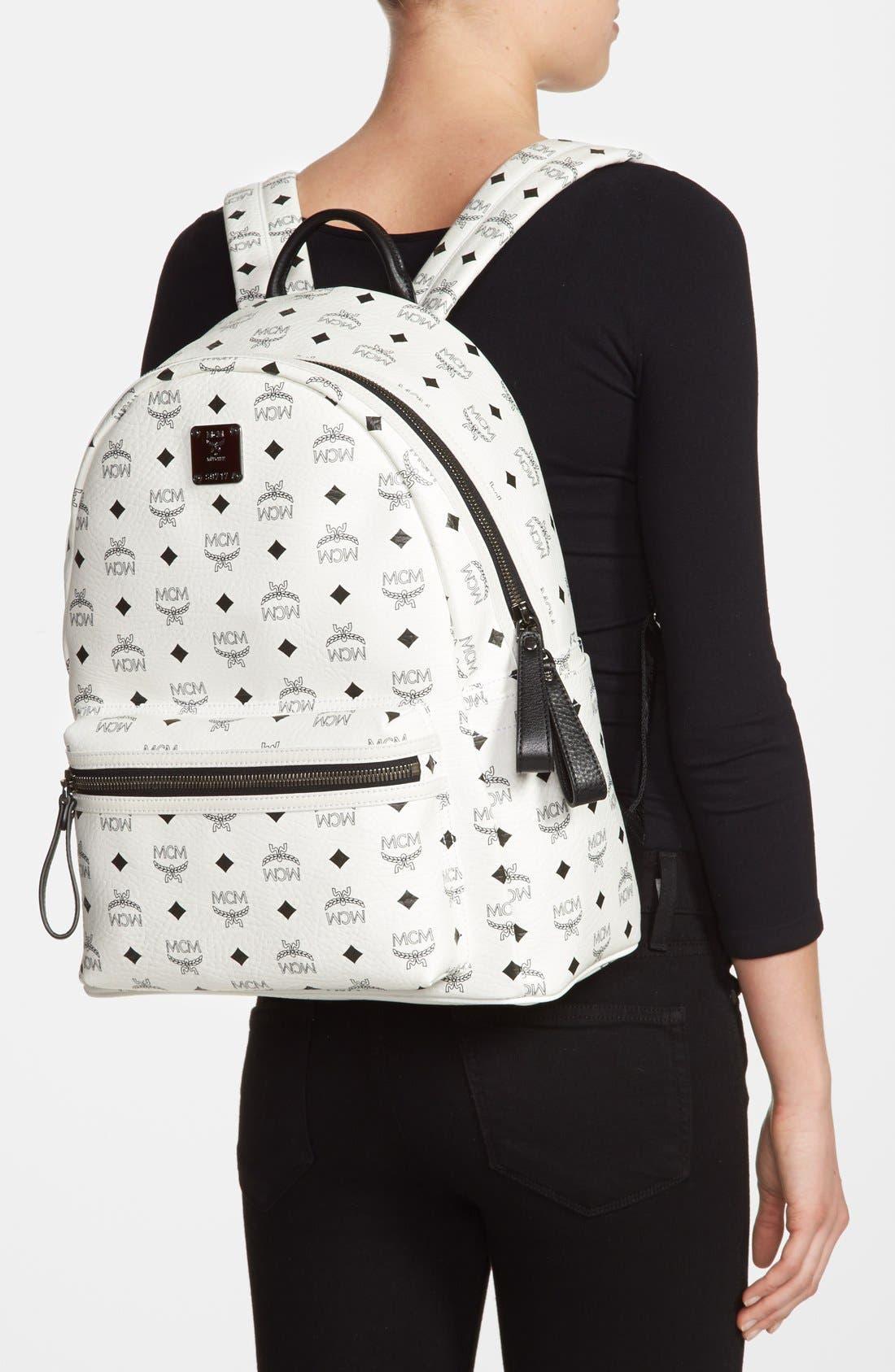 Alternate Image 2  - MCM 'Medium Stark' Logo Print Backpack