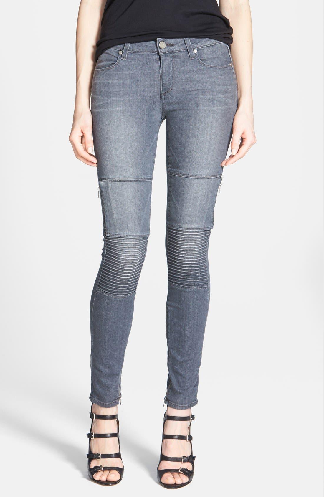 Main Image - Paige Denim 'Demi' Ultra Skinny Moto Jeans (Hart)