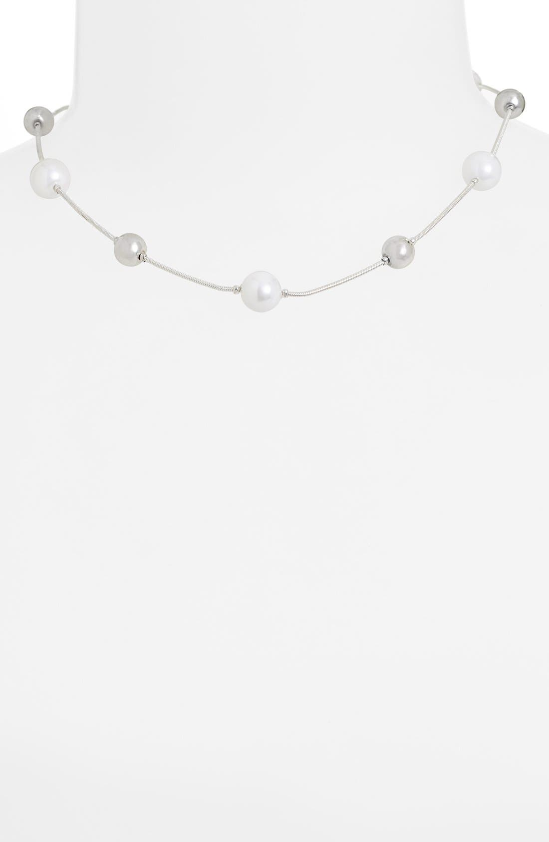 Alternate Image 1 Selected - Anne Klein Glass Pearl Collar Necklace
