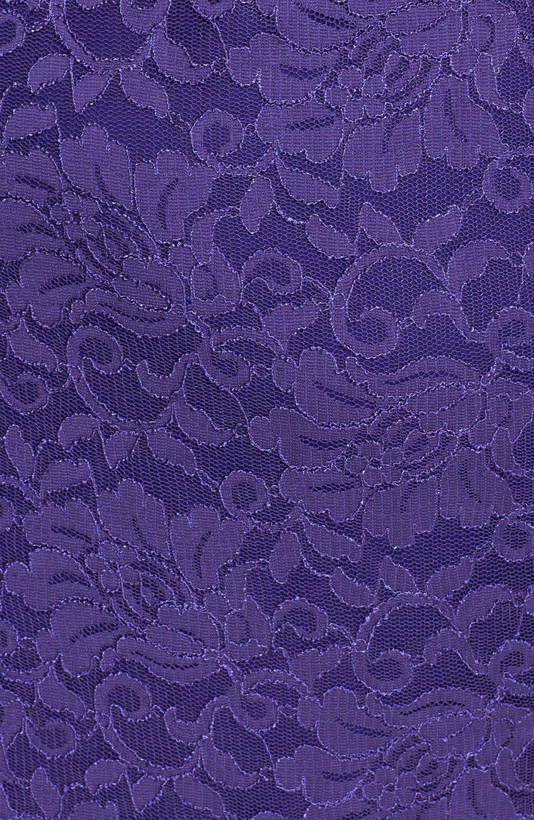 Alternate Image 3  - Alex Evenings Surplice Neckline Lace Dress (Plus Size)