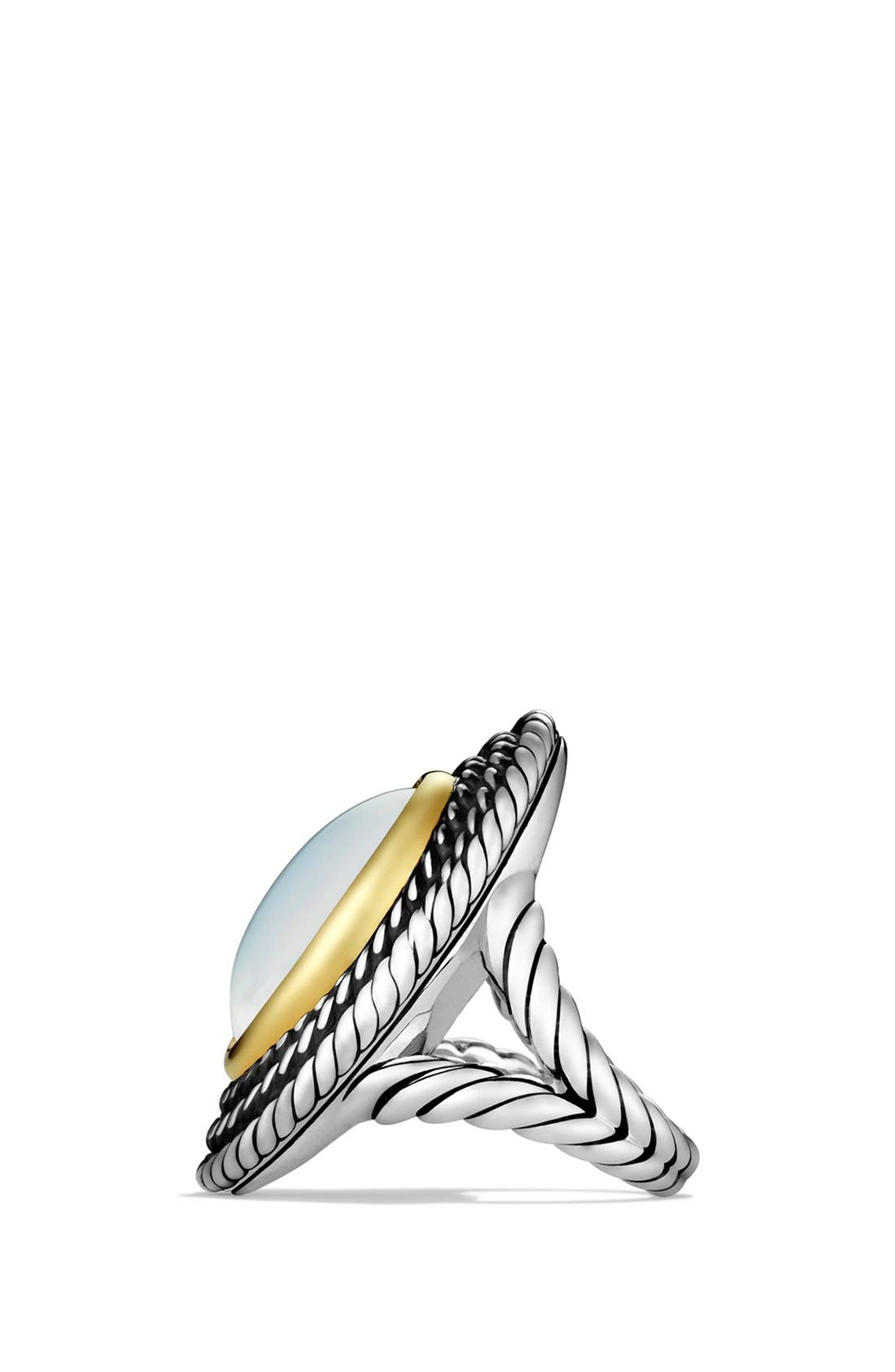 Alternate Image 4  - David Yurman 'Cable Coil' Ring with Moon Quartz and Gold
