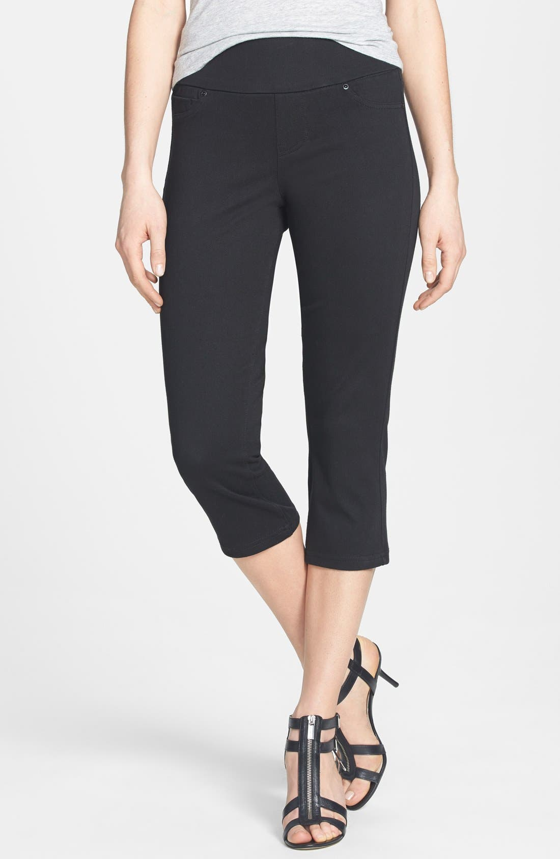 Alternate Image 1 Selected - Liverpool Jeans Company 'Sienna' Stretch Twill Capri Leggings