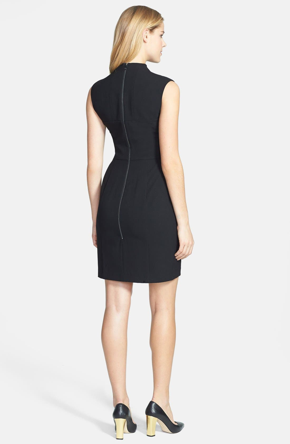 Alternate Image 2  - Marc New York by Andrew Marc Fold Collar Sheath Dress