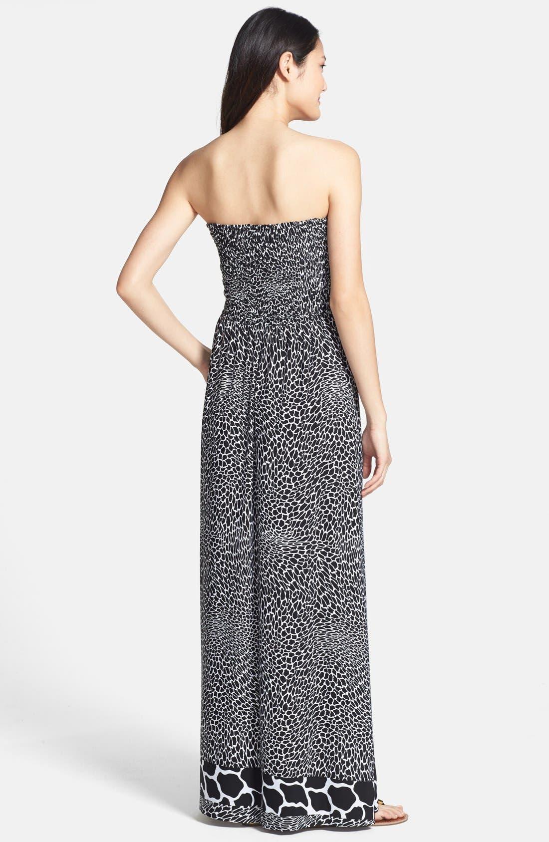 Alternate Image 2  - Anne Klein Animal Print Strapless Maxi Dress