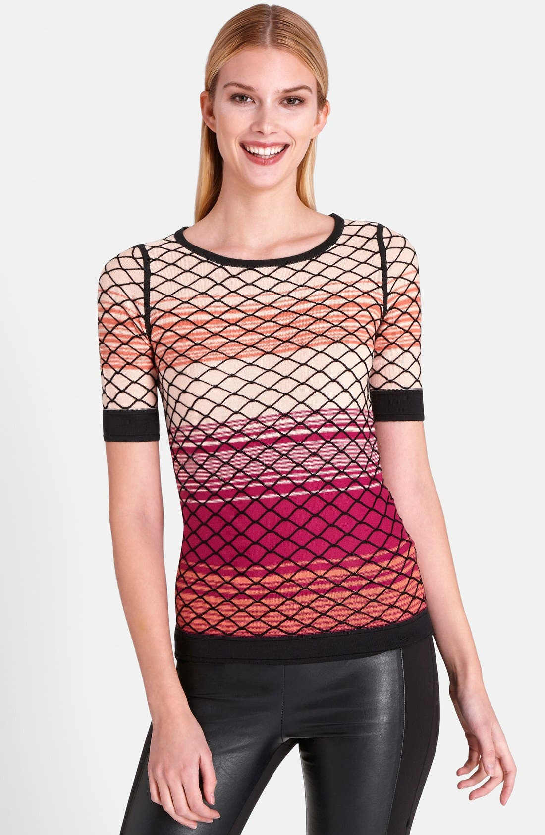 Alternate Image 1 Selected - Catherine Catherine Malandrino 'Bay' Mesh Pattern Top