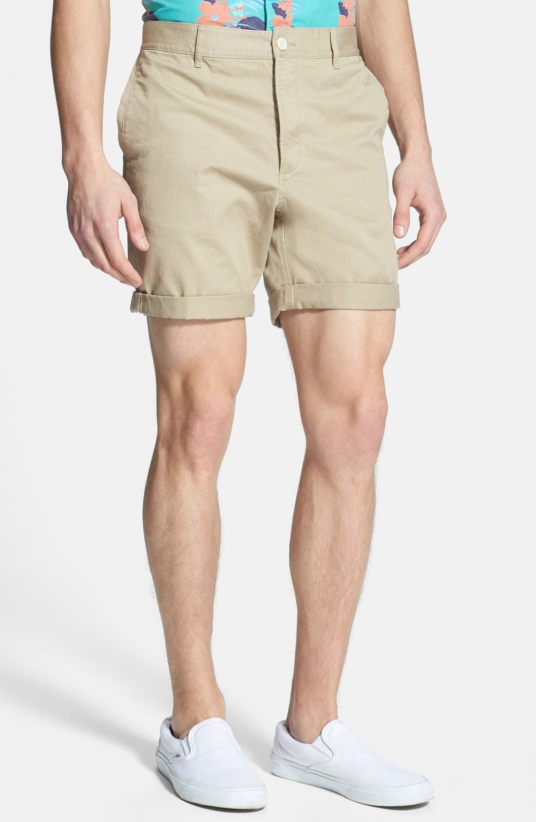 Alternate Image 1 Selected - Topman Skinny Fit Chino Shorts