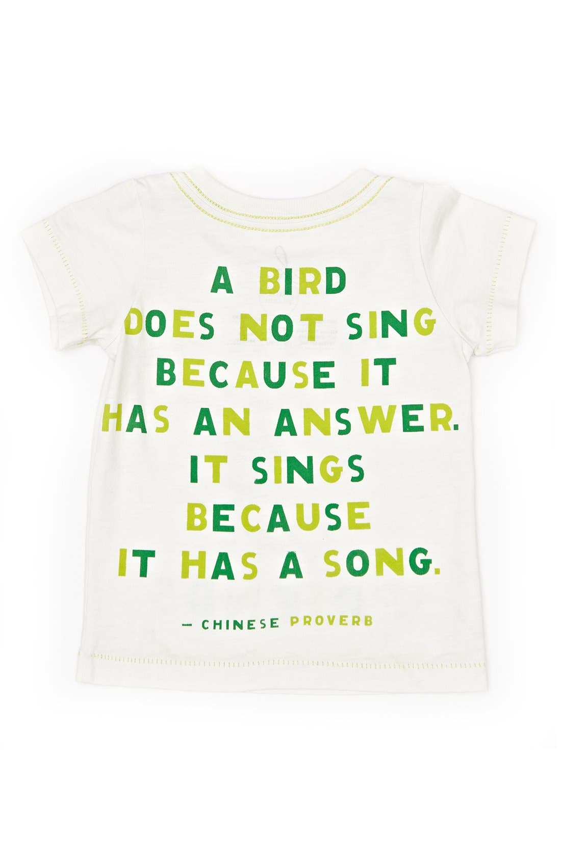 Alternate Image 2  - Peek 'Make Friends' Pima Cotton T-Shirt (Toddler Girls, Little Girls & Big Girls)