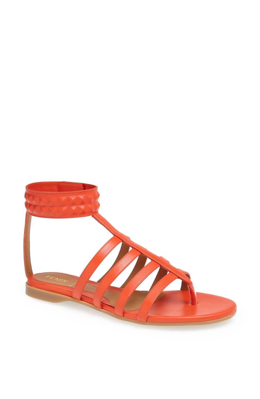 Main Image - Fendi 'Diana' Leather Sandal