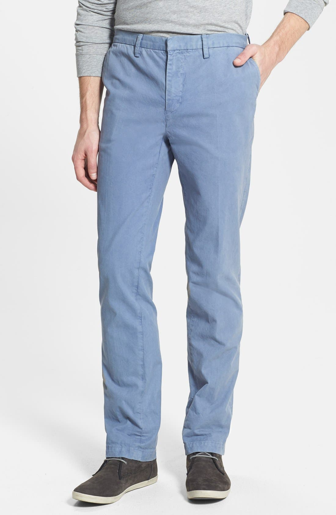 Alternate Image 1 Selected - Vince Straight Leg Twill Trousers