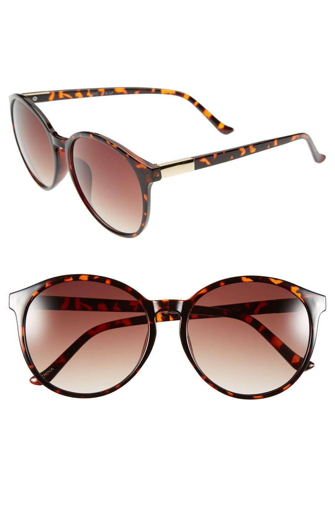 Alternate Image 1 Selected - Fantas Eyes 57mm Tortoise Shell Sunglasses (Juniors)