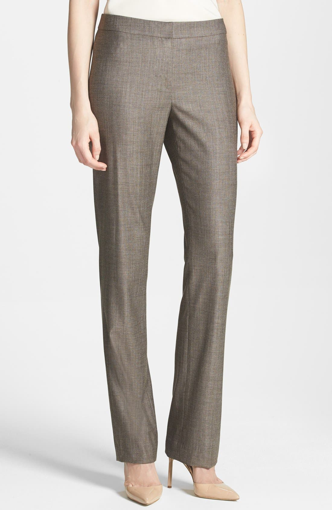 Alternate Image 1 Selected - Lafayette 148 New York 'Barrow - Bridgeport' Stretch Wool Suiting Pants (Petite)