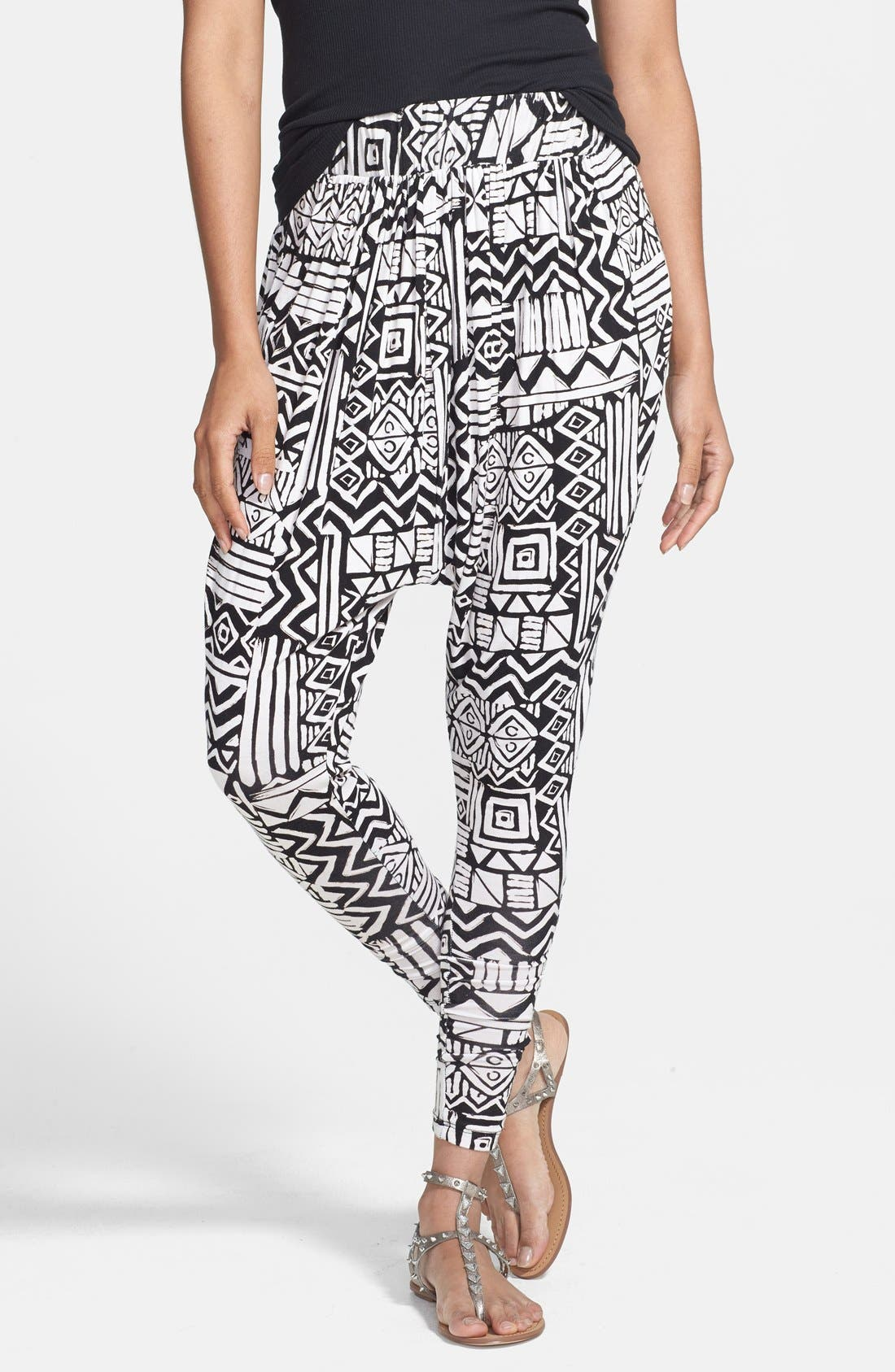 Alternate Image 1 Selected - Nikki Rich Print Harem Pants