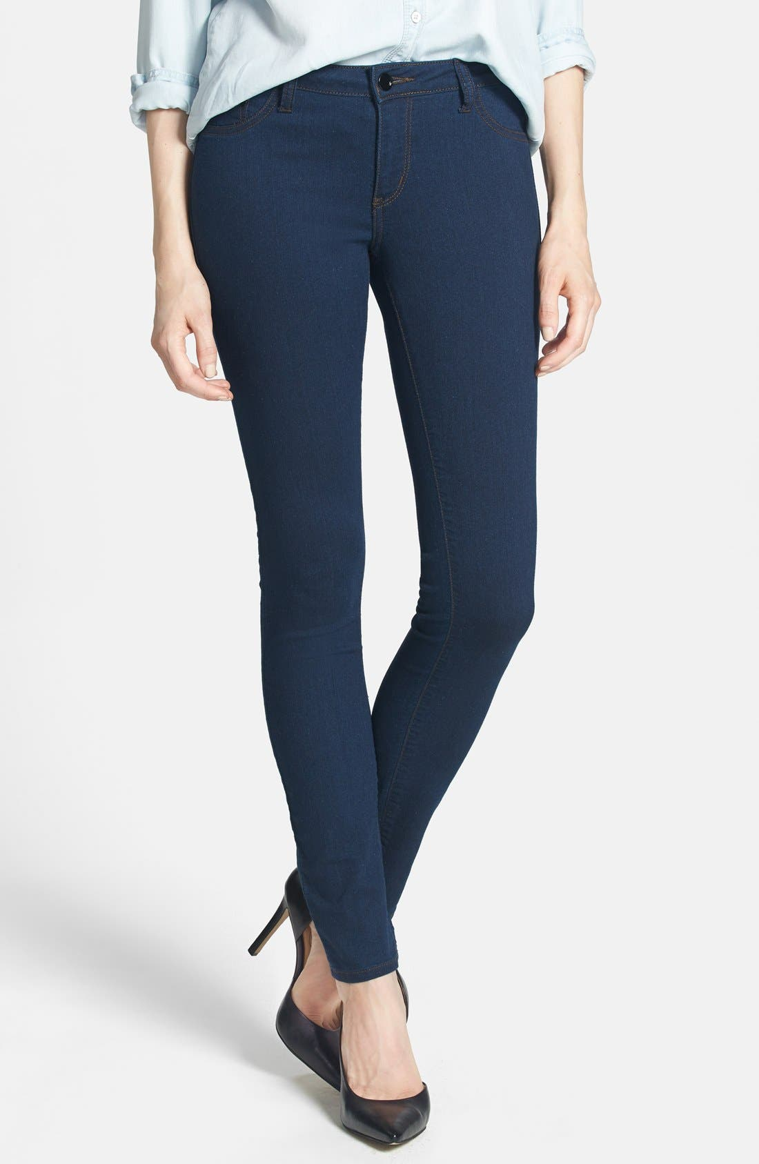 Alternate Image 1 Selected - !iT Collective 'Lola' Stretch Ultra Skinny Jeans (Regular & Petite)