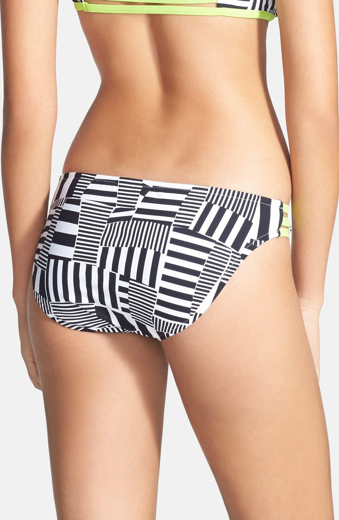 Alternate Image 2  - adidas 'Cut Stripe' Hipster Bikini Bottoms