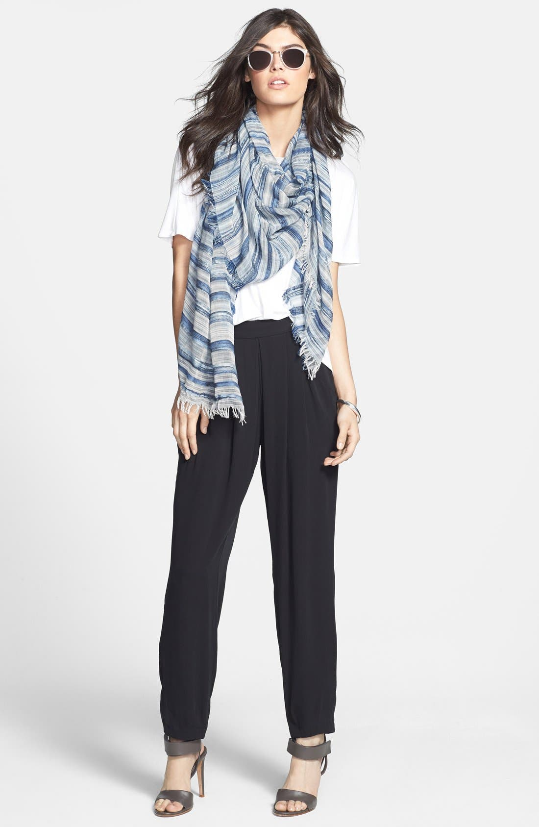 Alternate Image 3  - Eileen Fisher Stripe Scarf