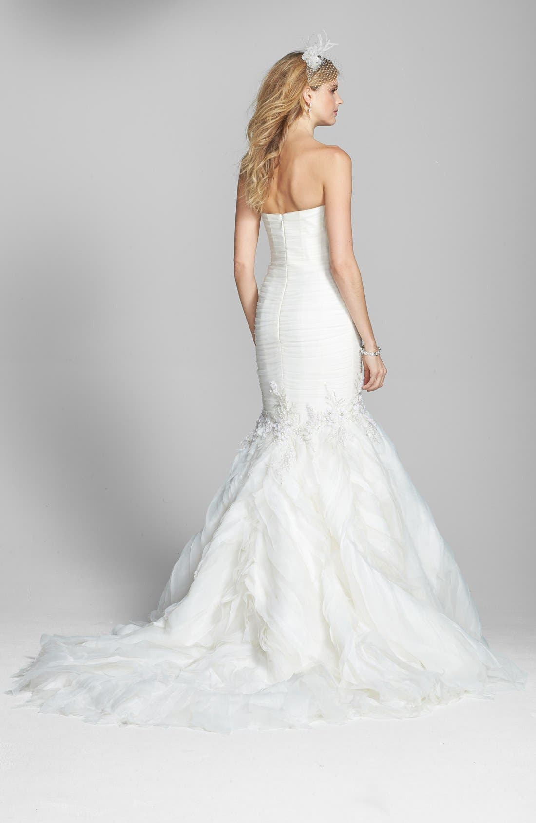 Alternate Image 2  - Badgley Mischka Bridal 'Bridgette' Embellished Tulle Mermaid Dress (In Stores Only)