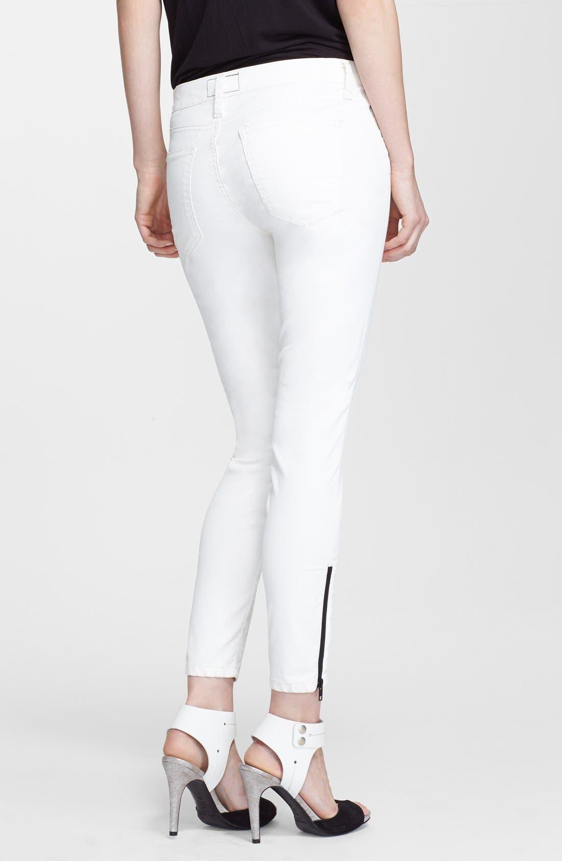 Alternate Image 2  - Current/Elliott 'The Soho Zip Stiletto' Skinny Jeans (Sugar Coated)