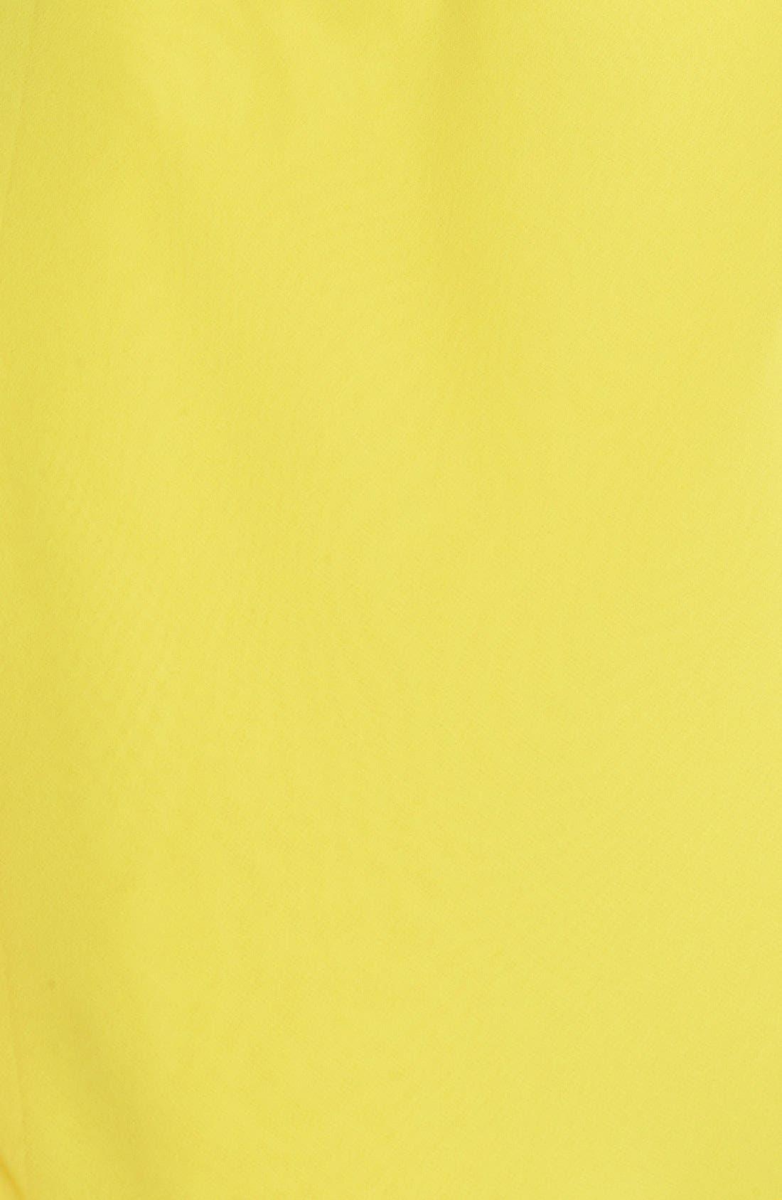 Alternate Image 4  - Laundry by Shelli Segal One-Shoulder Drape Chiffon Dress