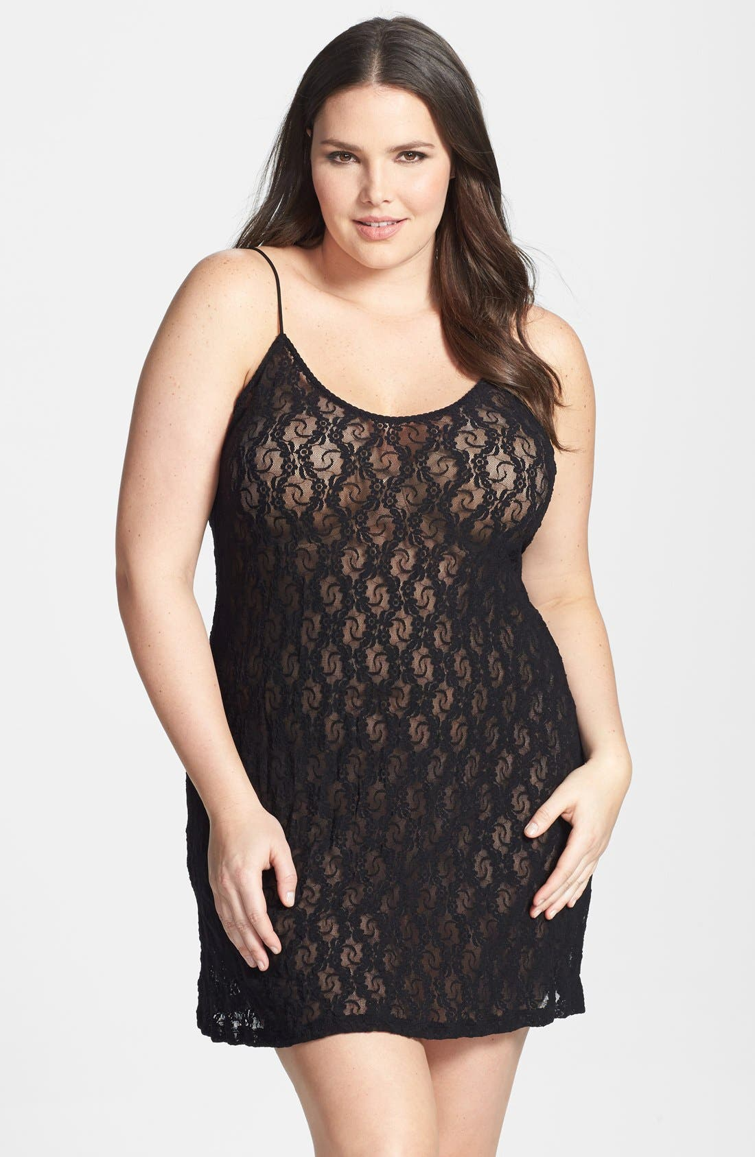 Alternate Image 1 Selected - Only Hearts Stretch Lace Chemise (Plus Size)