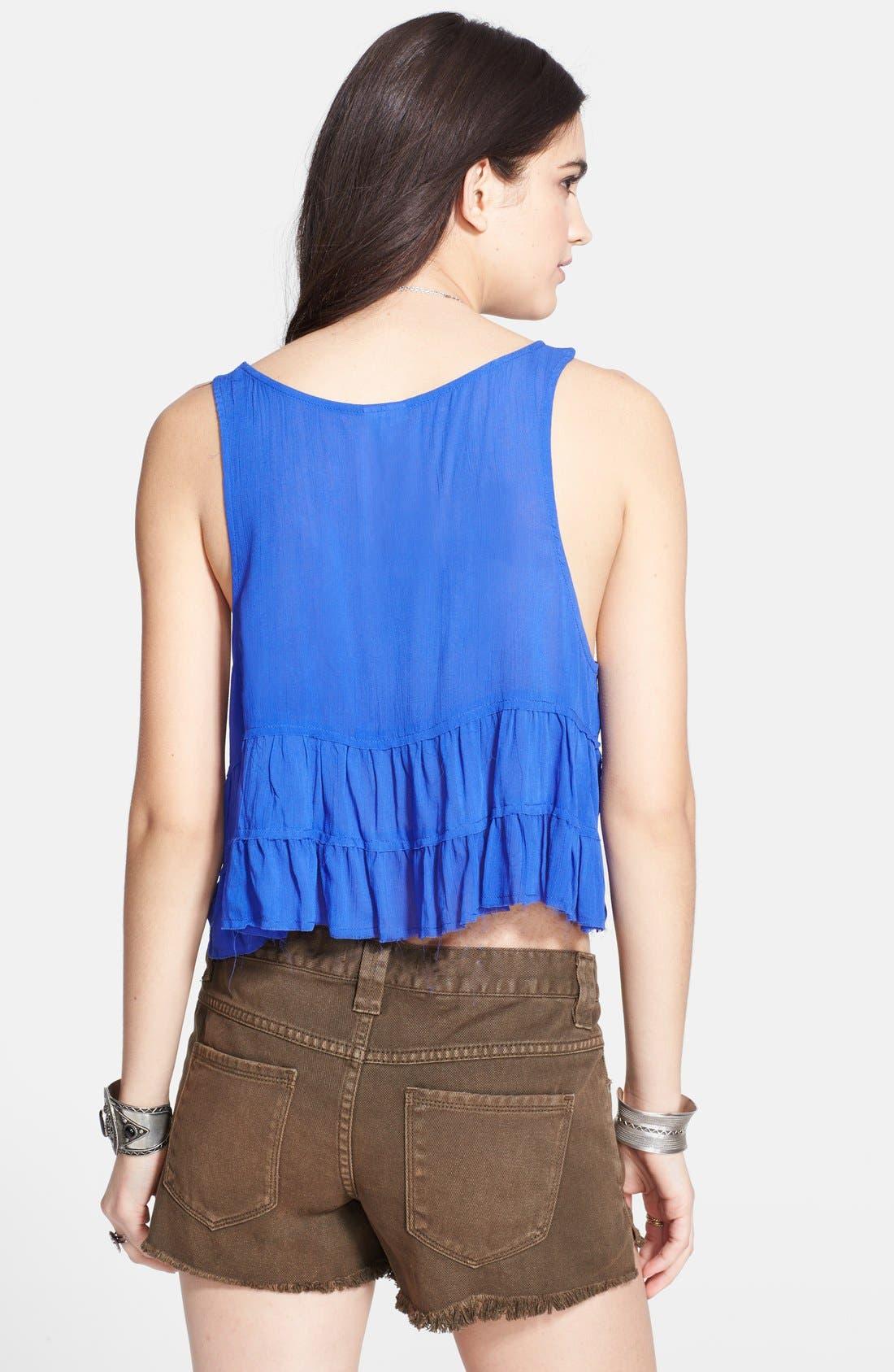 Alternate Image 2  - Free People 'Crinkle Breeze' Ruffled Crop Camisole