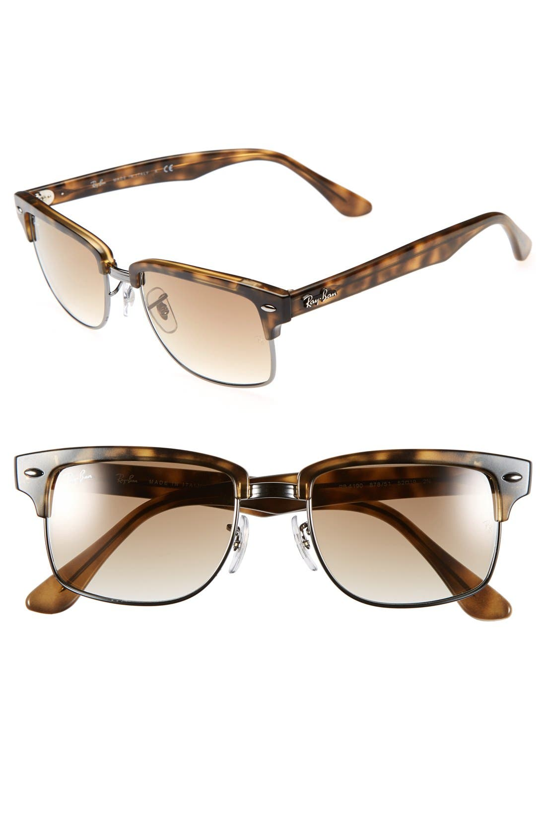 Main Image - Ray-Ban 'Clubmaster' Square 52mm Sunglasses