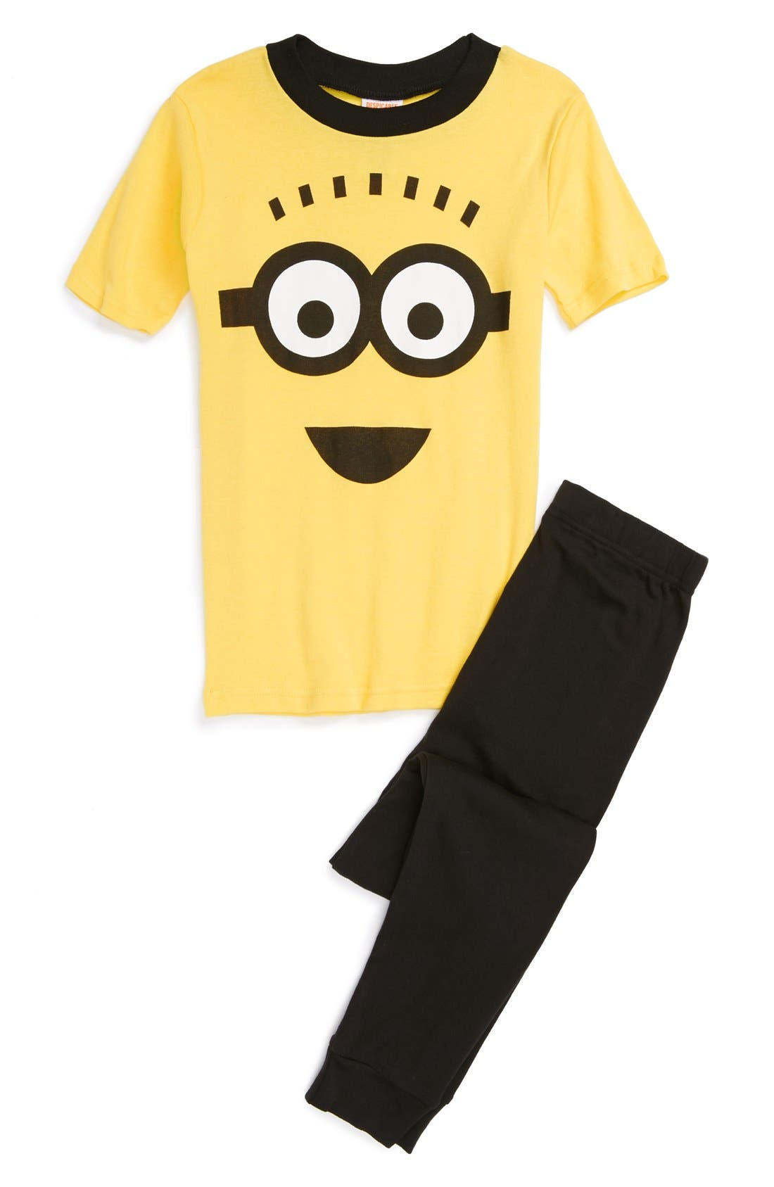 Alternate Image 1 Selected - Despicable Me 2™ 'Minion' Two-Piece Fitted Pajamas (Little Boys & Big Boys)
