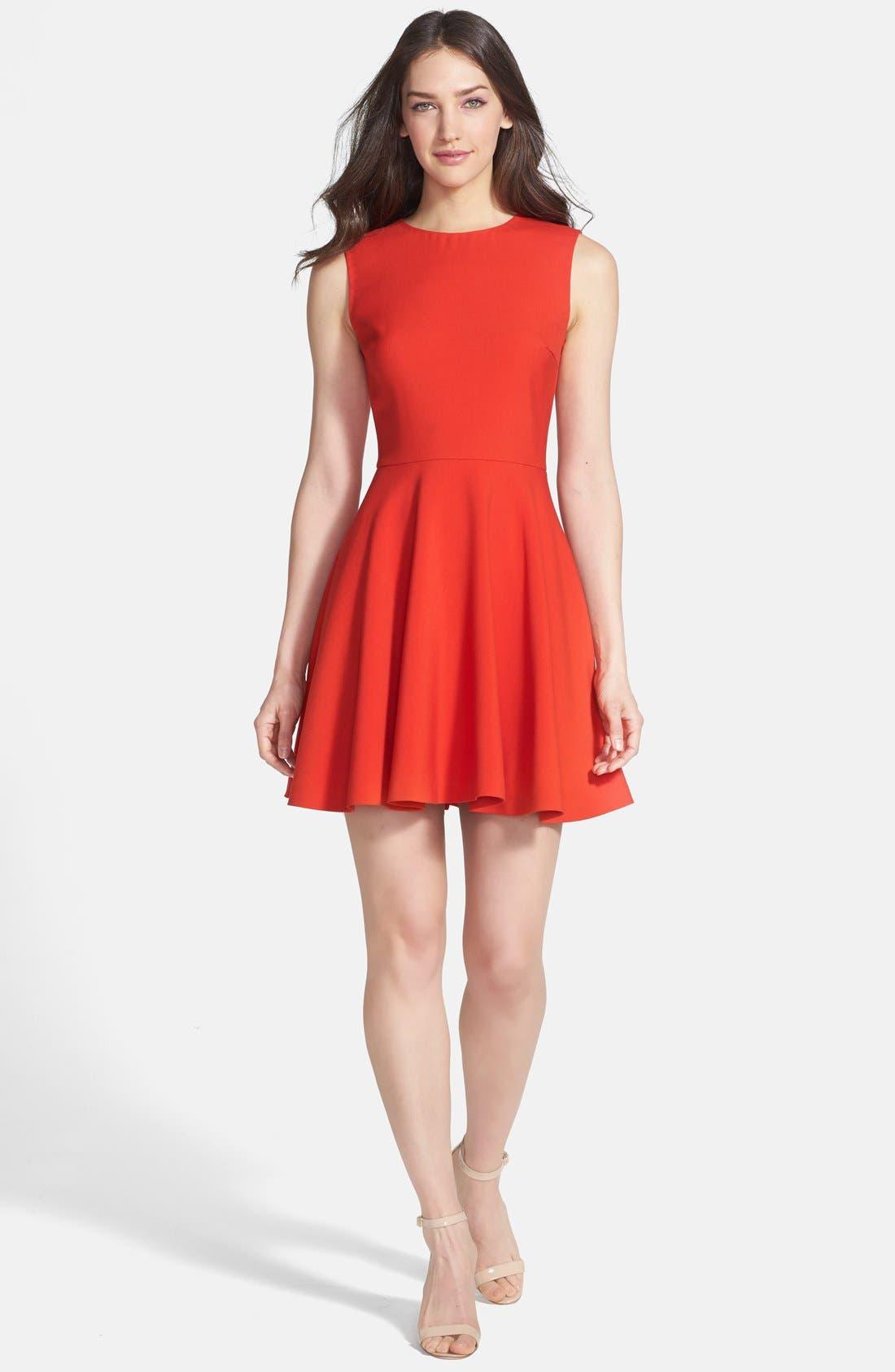Alternate Image 1 Selected - Diane von Furstenberg 'Jeannie' Stretch Fit & Flare Dress