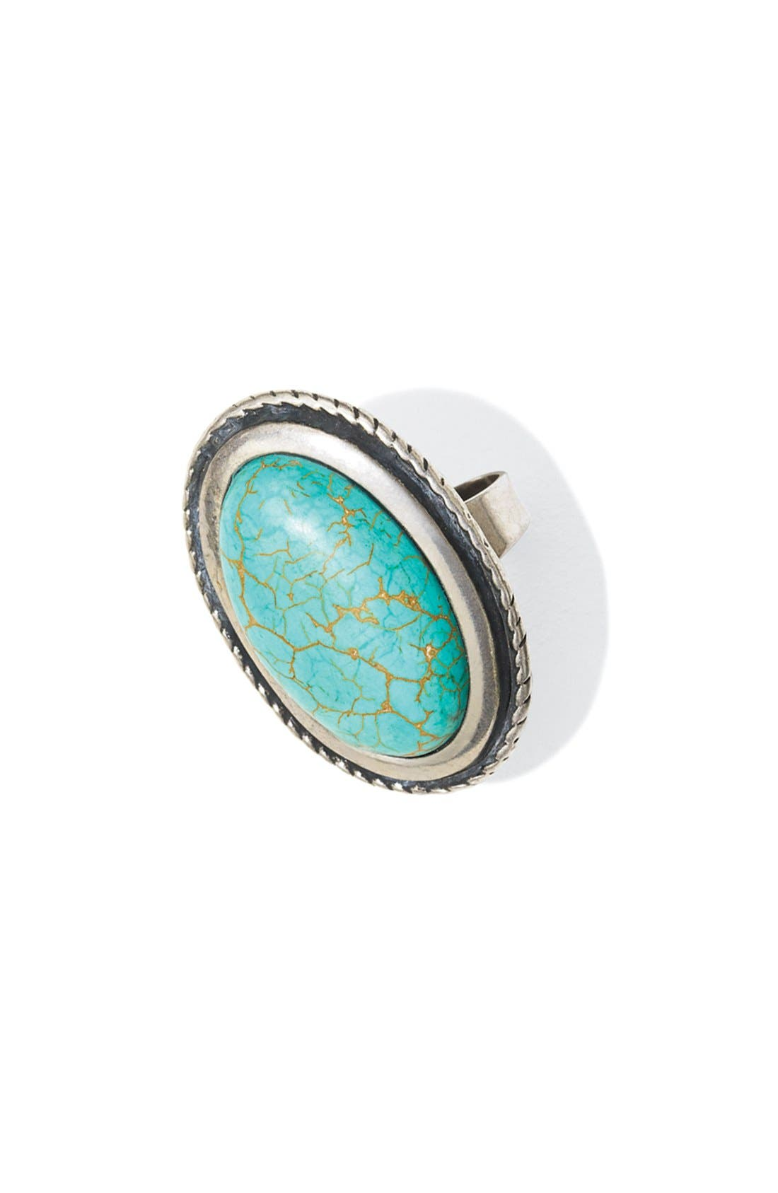 Alternate Image 5  - Spring Street Oval Reconstituted Turquoise Ring