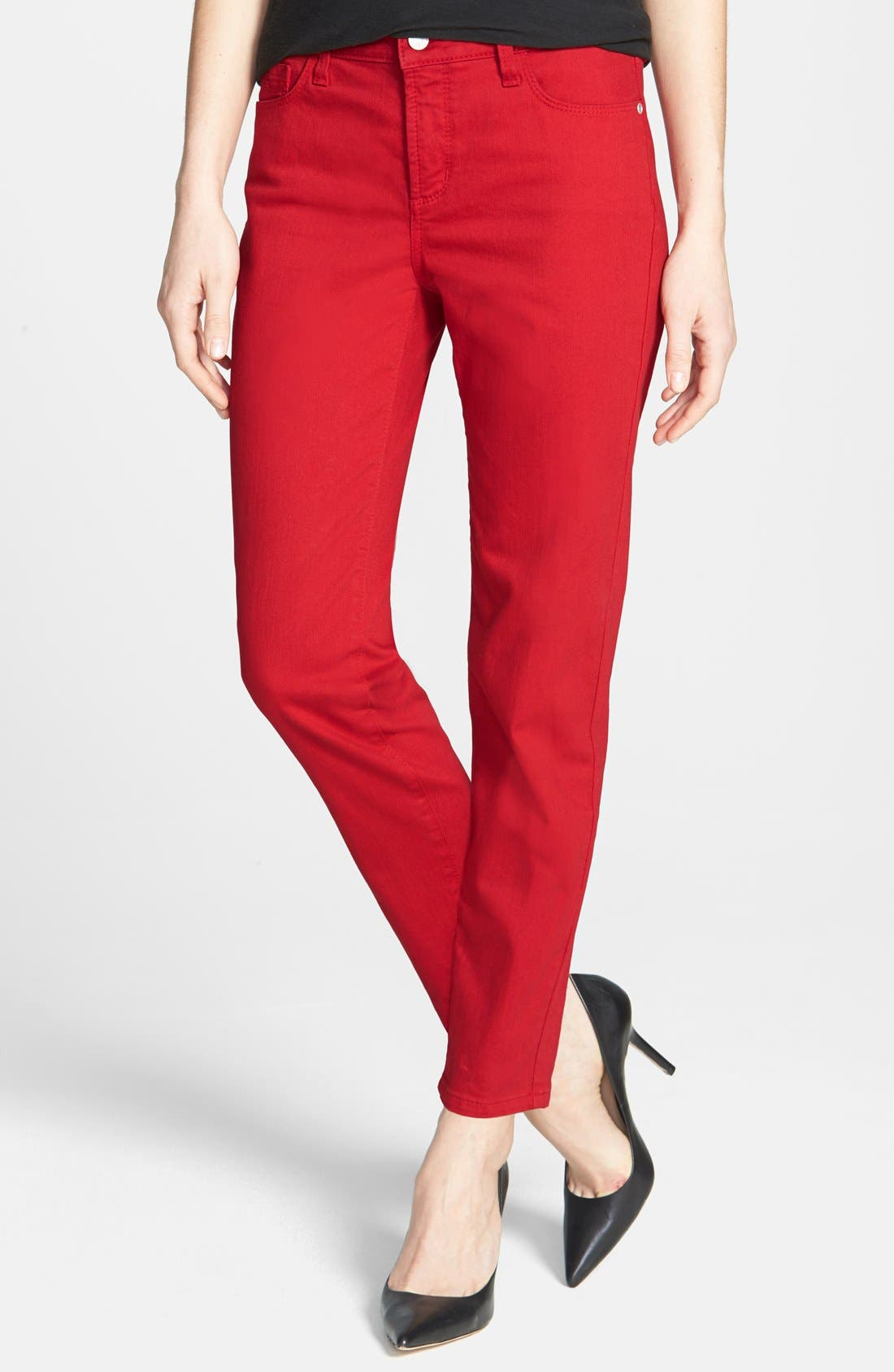Alternate Image 1 Selected - NYDJ 'Clarissa' Fitted Stretch Ankle Skinny Jeans (Regular & Petite)