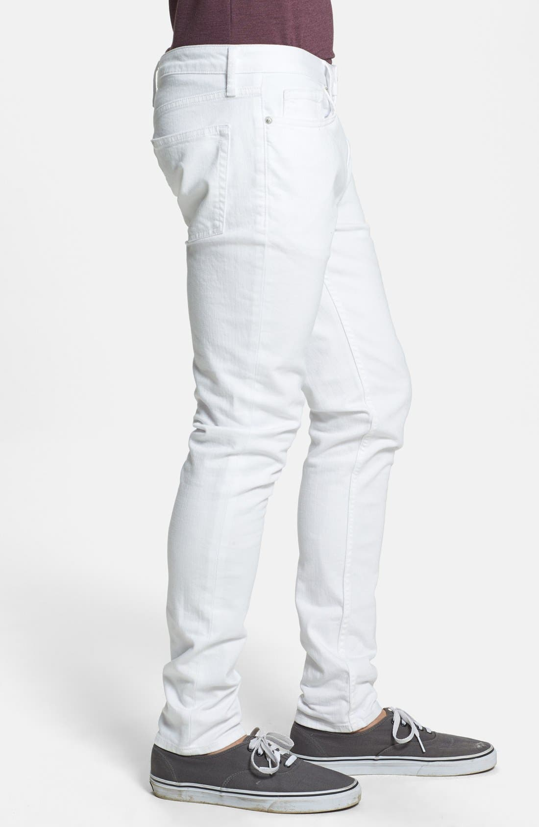 Alternate Image 4  - Topman Stretch Skinny Fit Jeans
