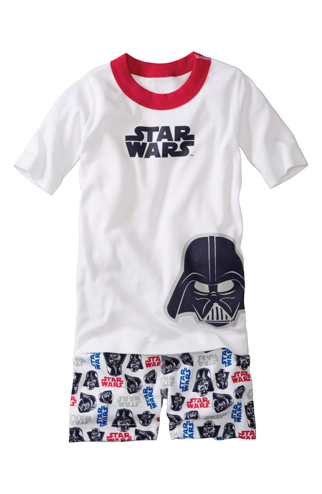 Main Image - Hanna Andersson 'Star War™ - Vader Face' Two-Piece Fitted Pajamas (Toddler Boys, Little Boys & Big Boys)