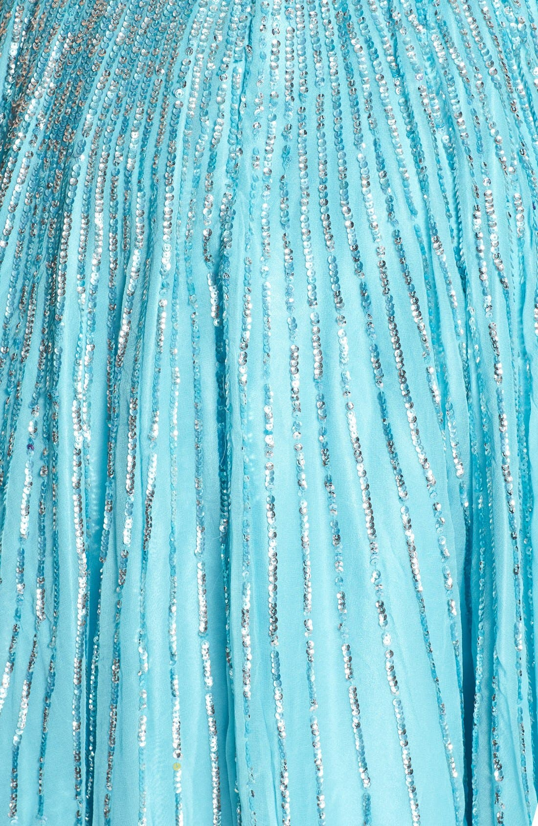 Alternate Image 3  - Sherri Hill Sequin Coated Strapless Chiffon Gown