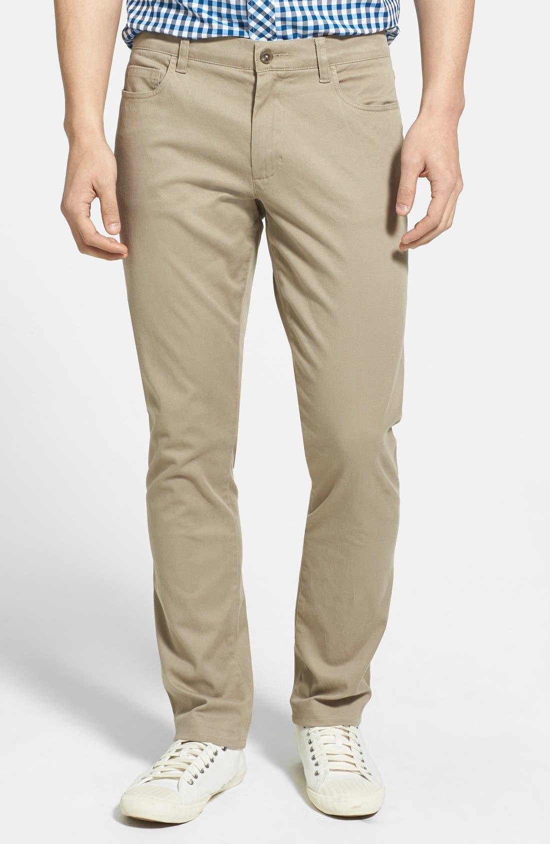 Main Image - Vince Five Pocket Stretch Cotton Straight Leg Pants