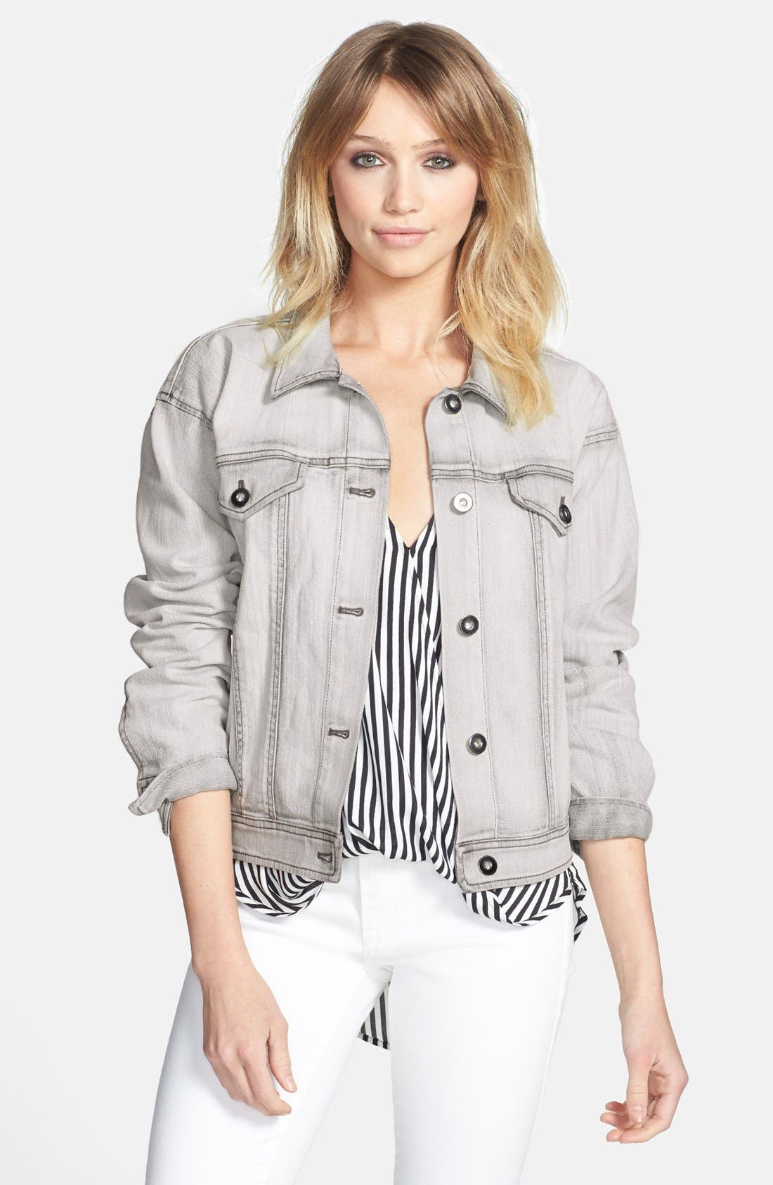 Alternate Image 1 Selected - Leith 'Wedge' Denim Jacket