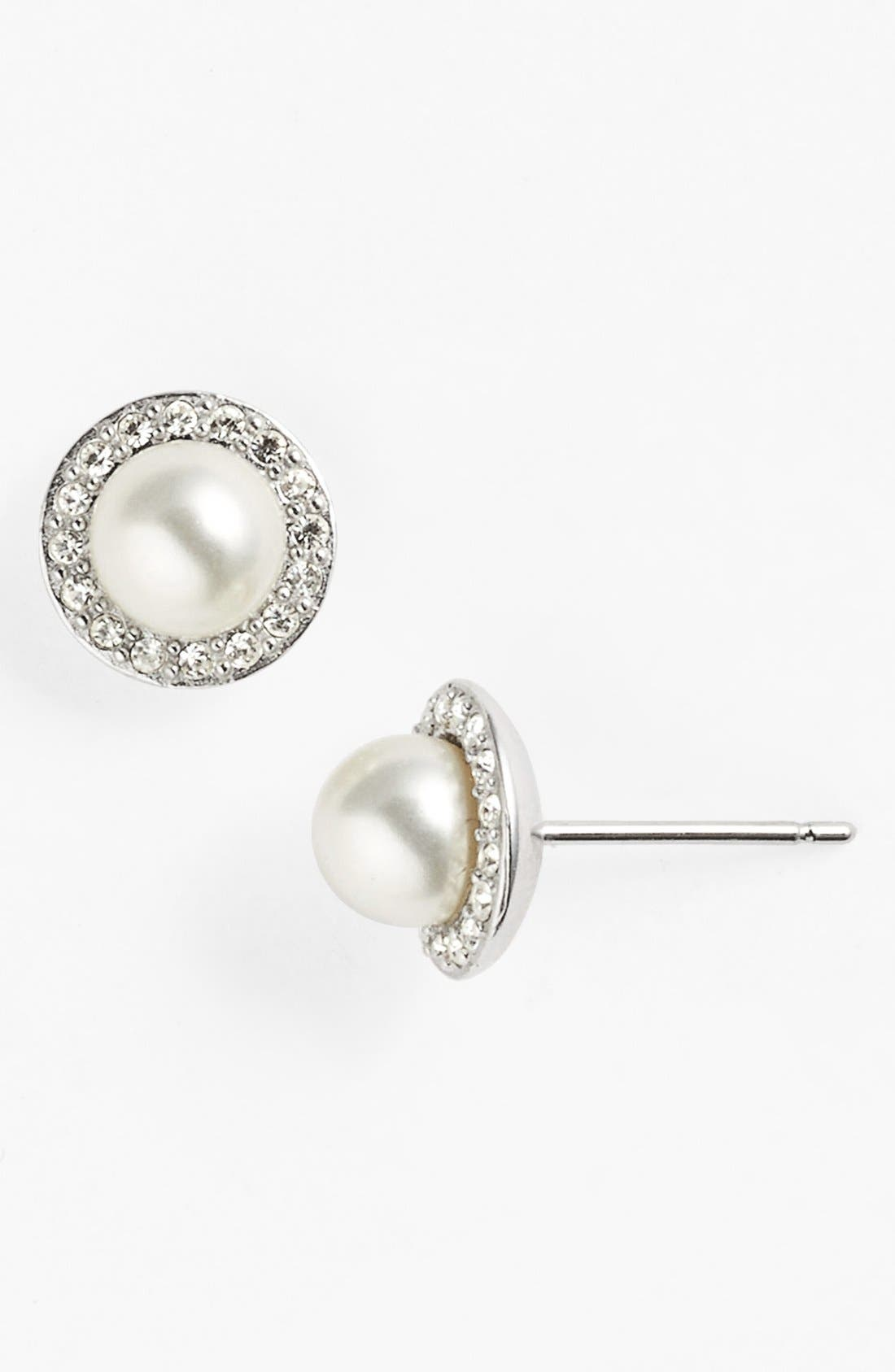 Main Image - Judith Jack 'Pearl Romance' Faux Pearl Stud Earrings