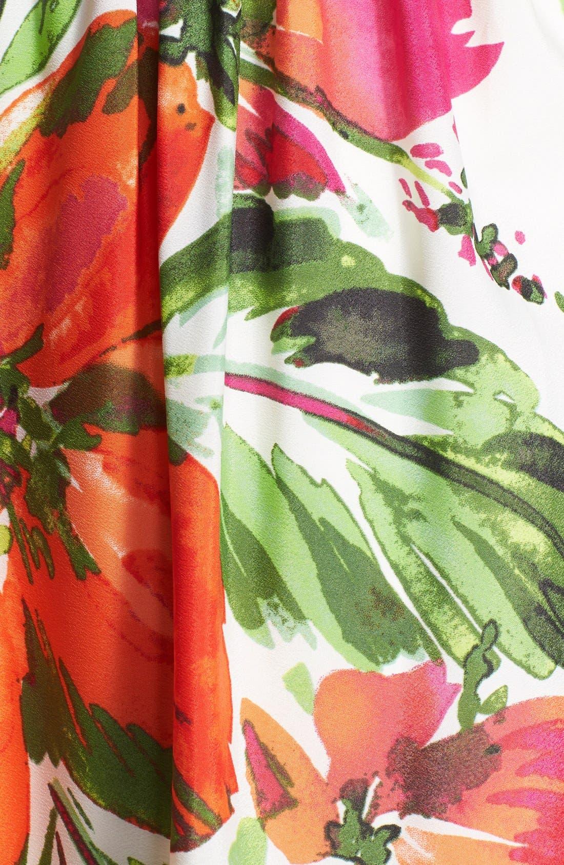 Alternate Image 3  - Eliza J Print Chiffon Halter Maxi Dress