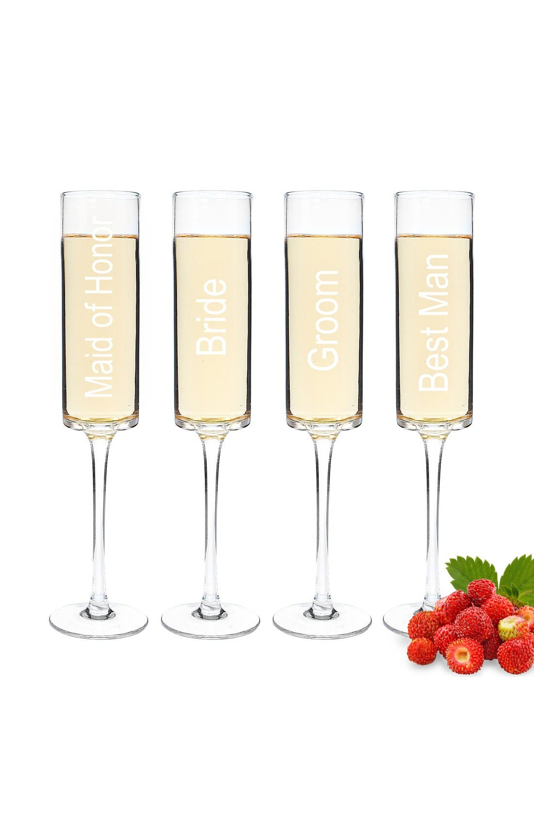 Alternate Image 2  - Cathy's Concepts 'Wedding Party' Contemporary Champagne Flutes (Set of 4)