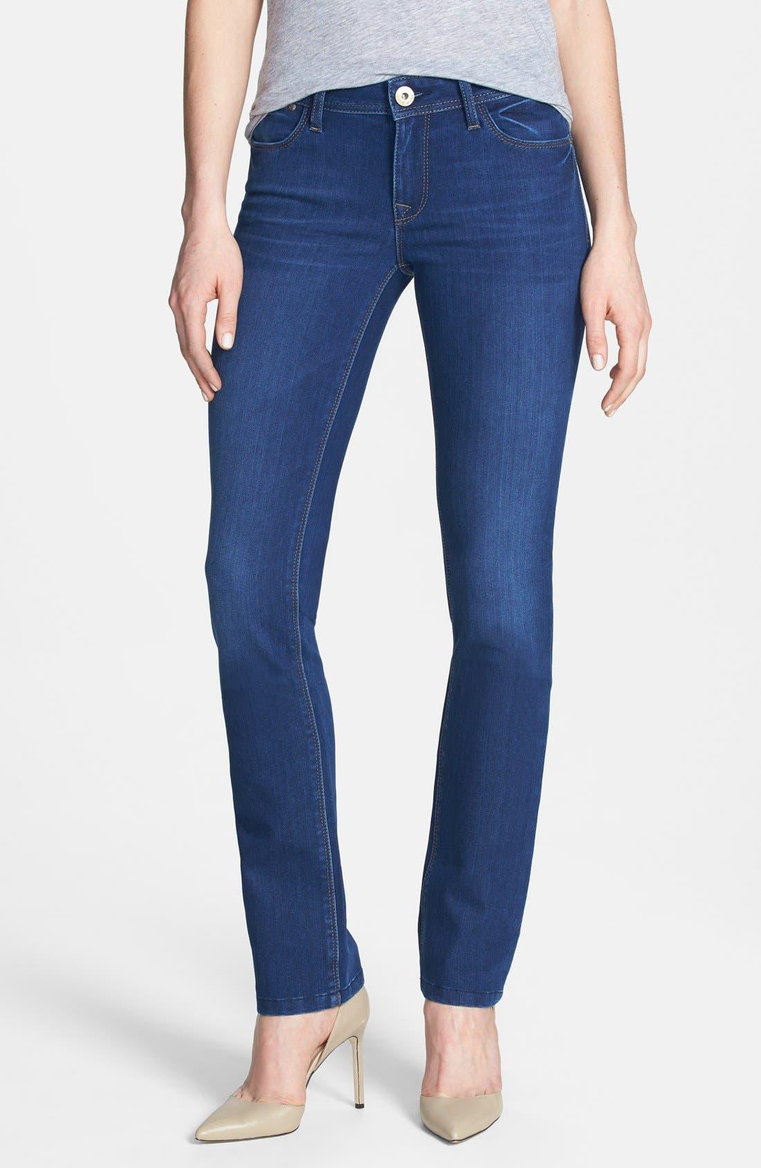 Main Image - DL1961 'Grace' Straight Jeans (Dyer)