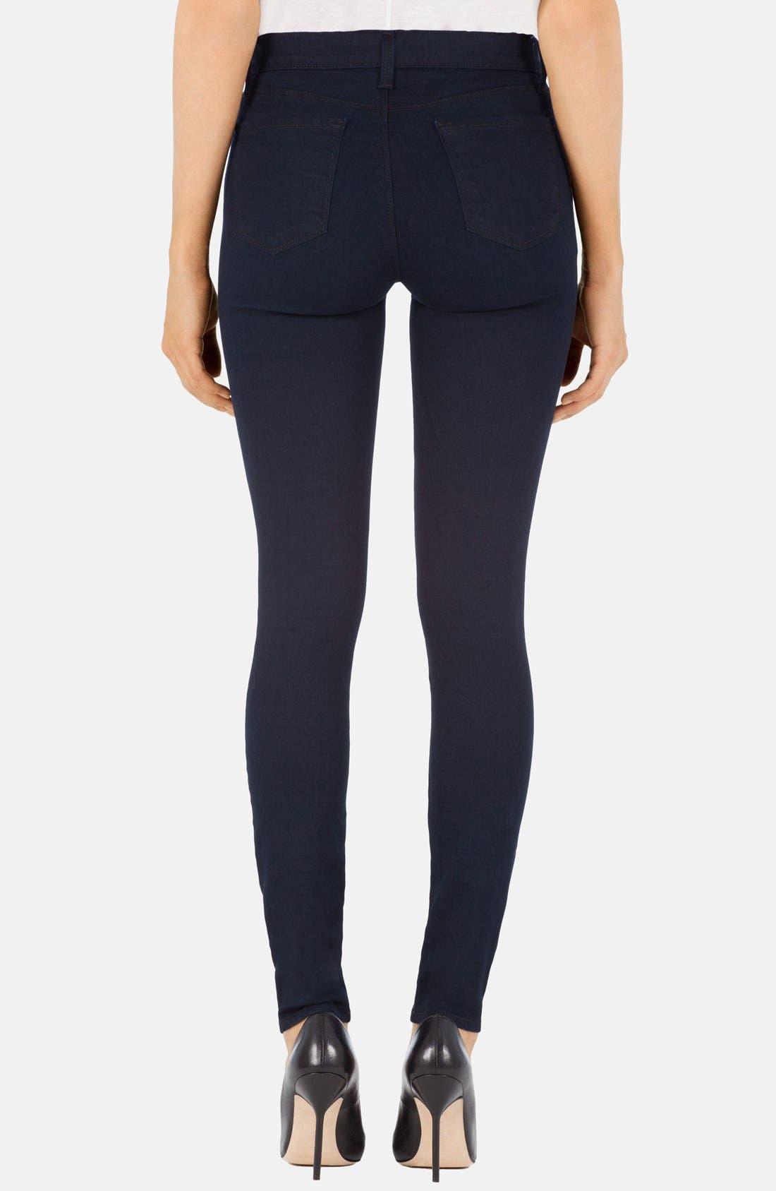 Alternate Image 2  - J Brand 'Maria' High Rise Skinny Jeans (Lapis)