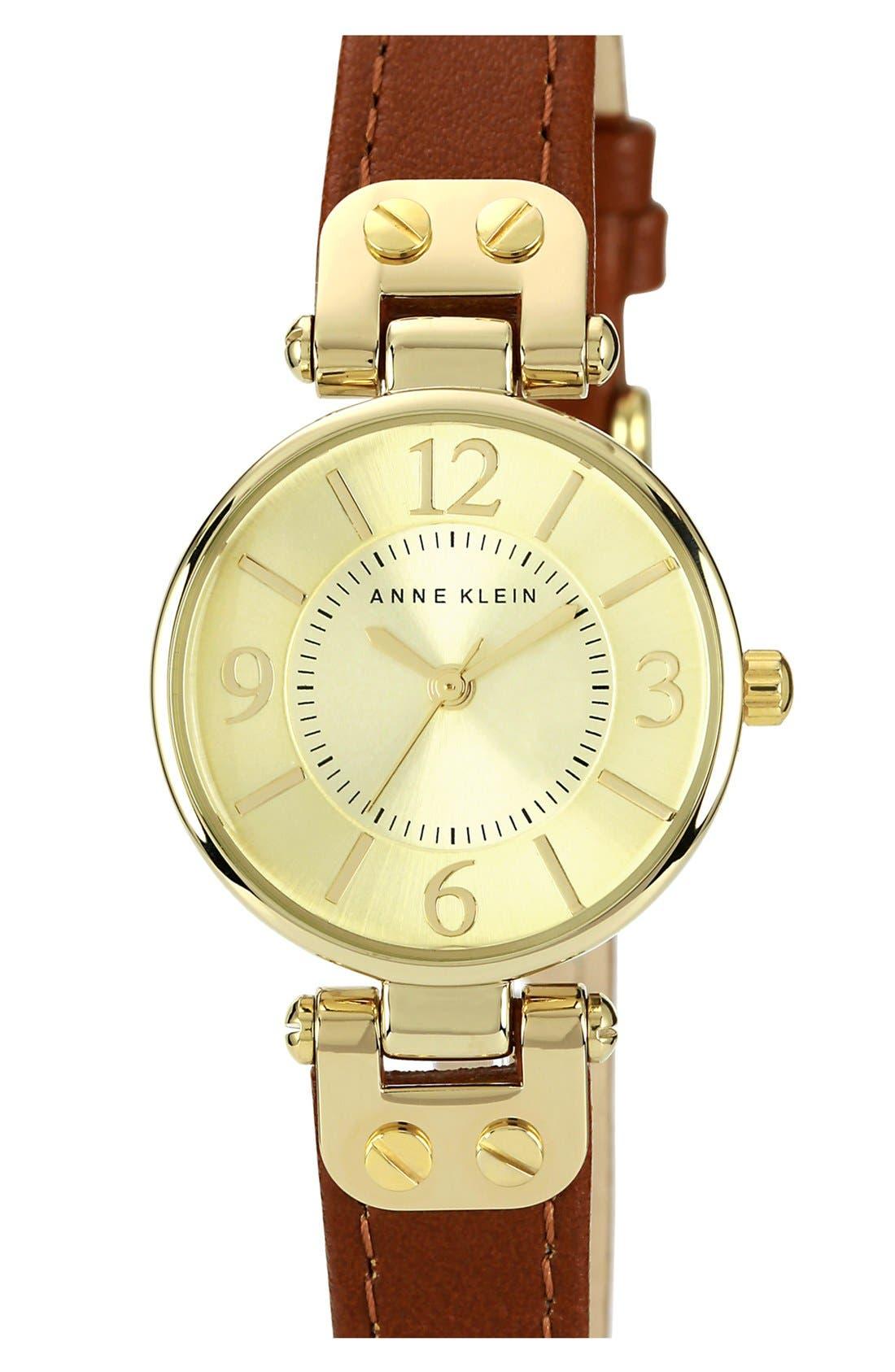 Main Image - Anne Klein Hinge Case Watch, 32mm