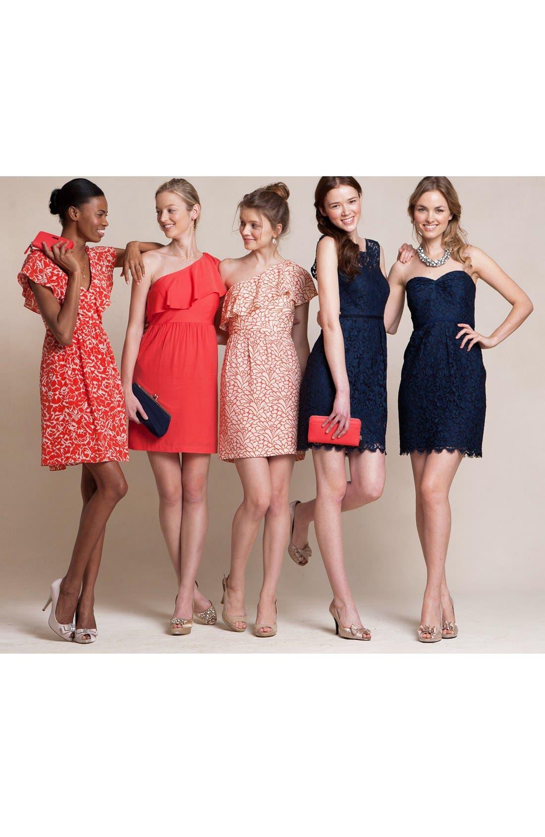 Alternate Image 4  - Jenny Yoo 'Lulu' Ruffled One-Shoulder Sheath Dress (Online Only)