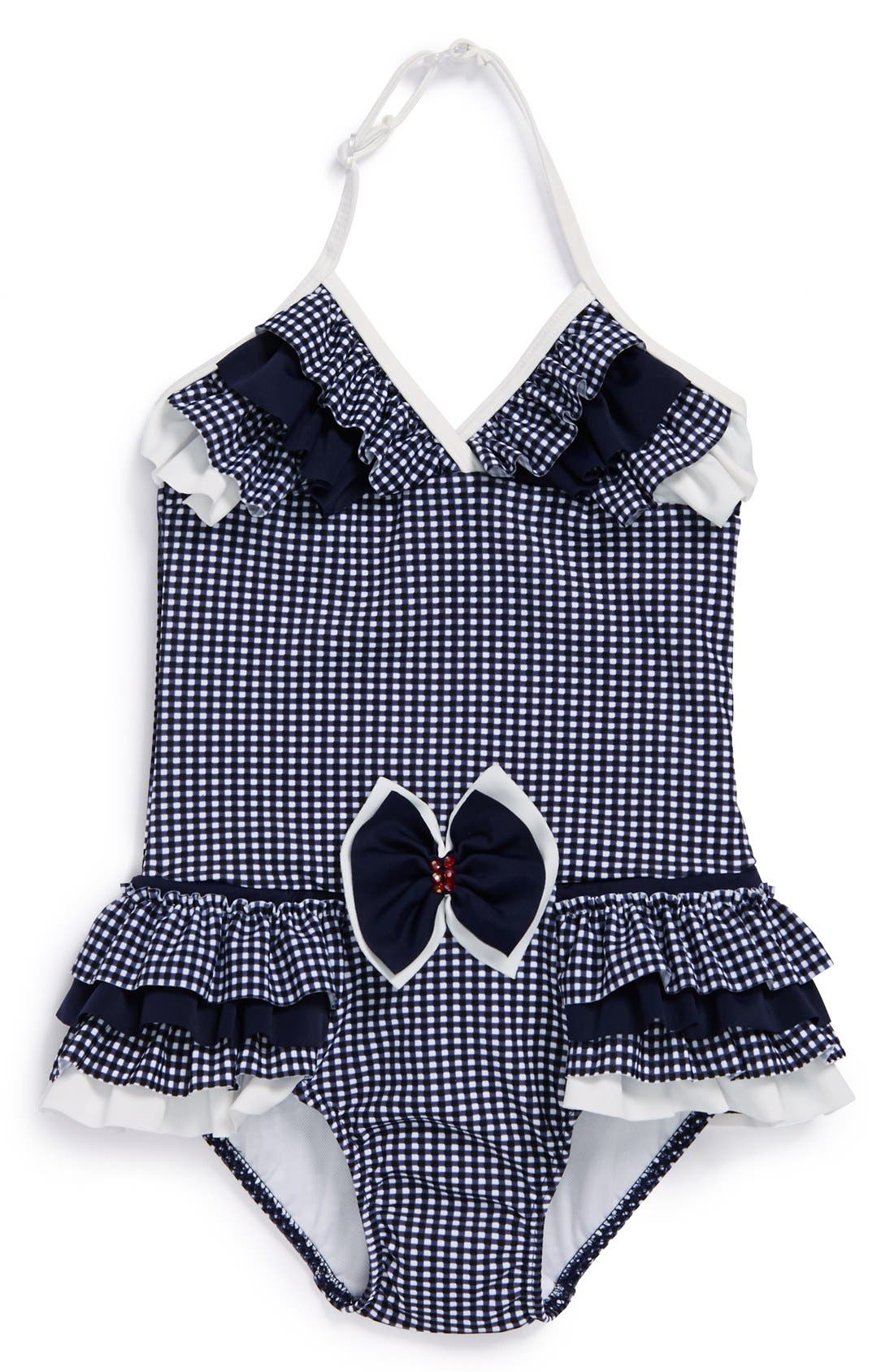 Main Image - Isobella & Chloe 'Simply Nautical' One-Piece Swimsuit (Toddler Girls)