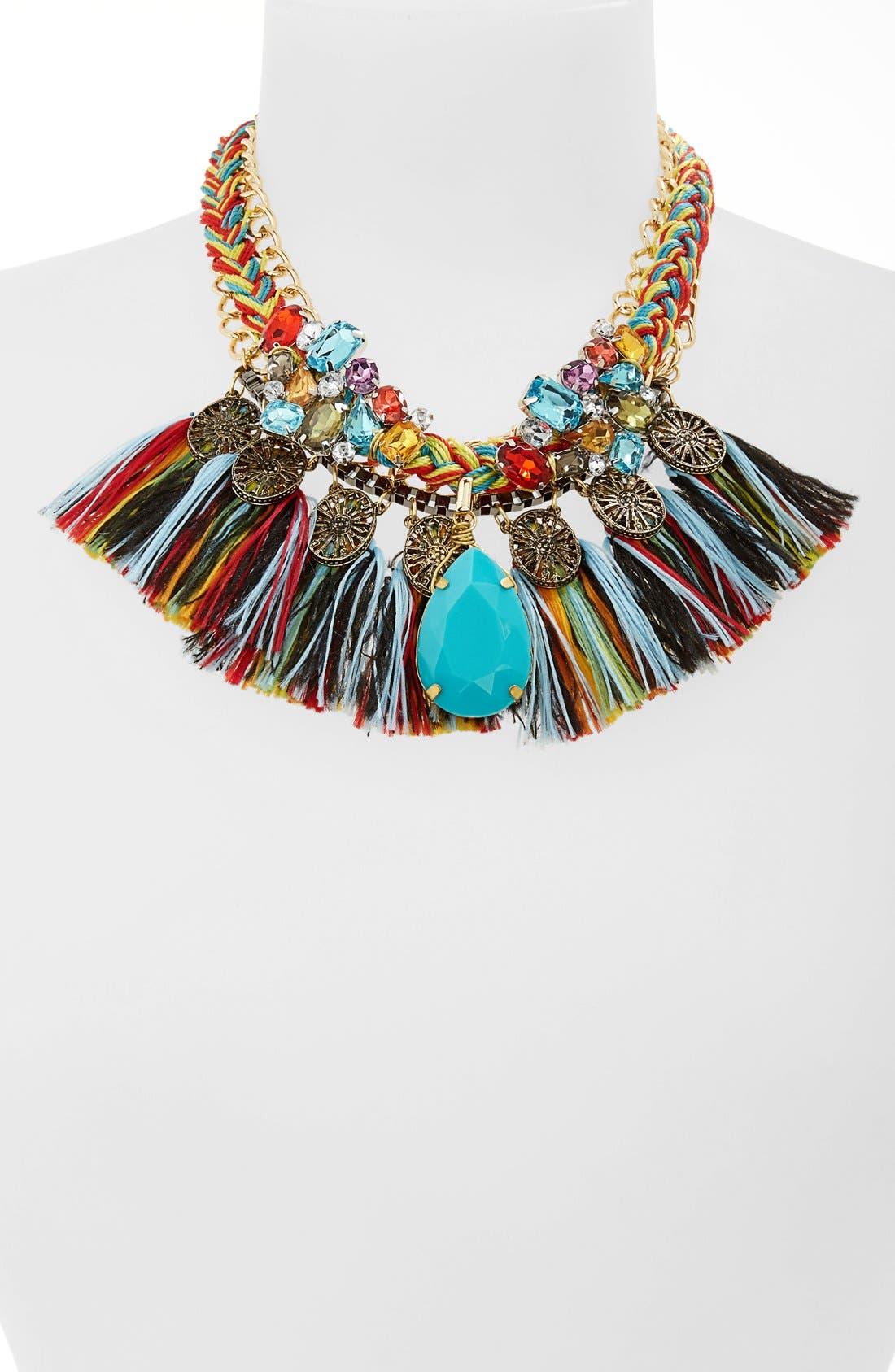 Main Image - Leith Fringe Multi Chain Necklace