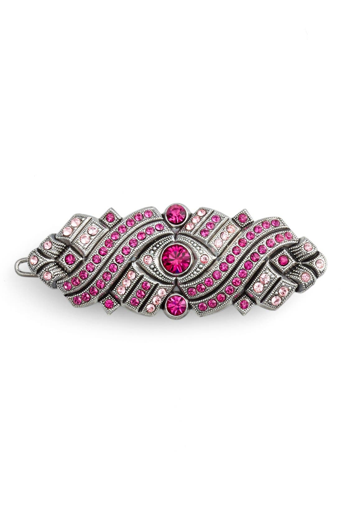 Alternate Image 1 Selected - L. Erickson 'Bavaria' Swarovski Crystal Tige Boule Barrette