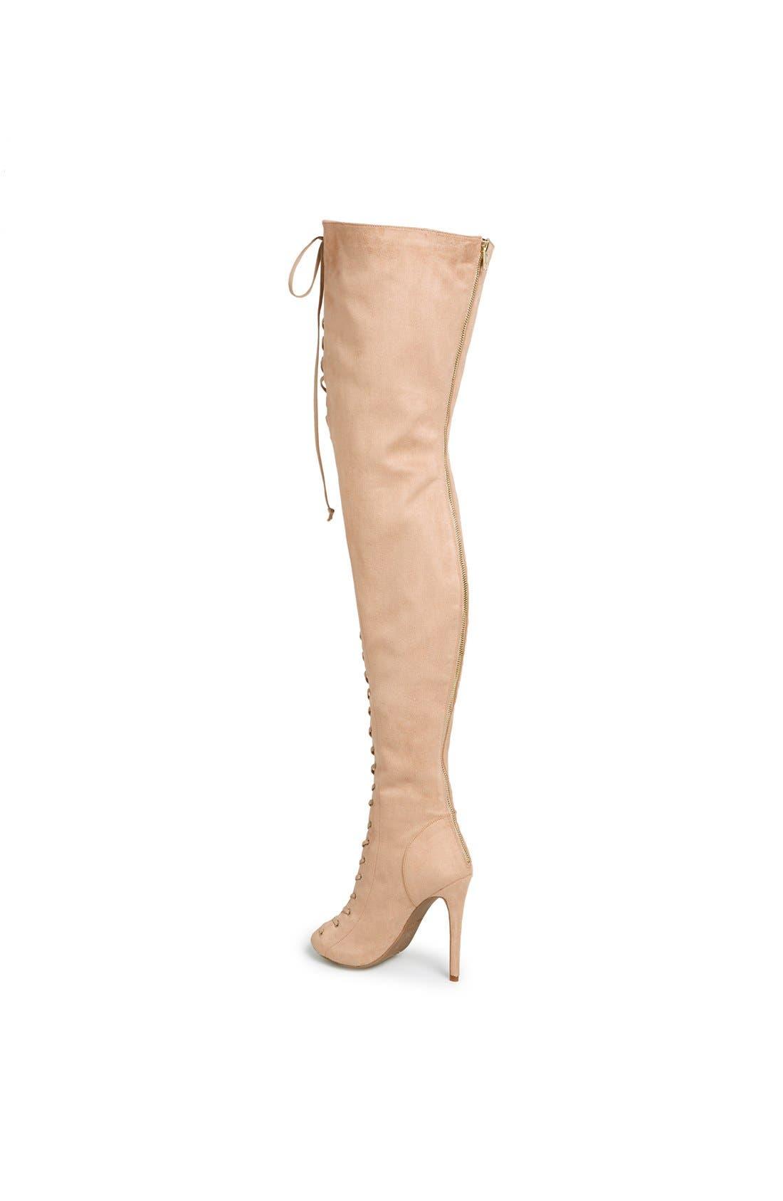Alternate Image 2  - ZiGi girl 'Piarry' Lace-Up Thigh-High Boot (Narrow Calf)