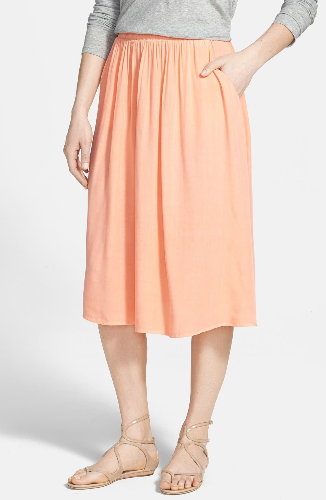 Main Image - Splendid Woven Midi Skirt