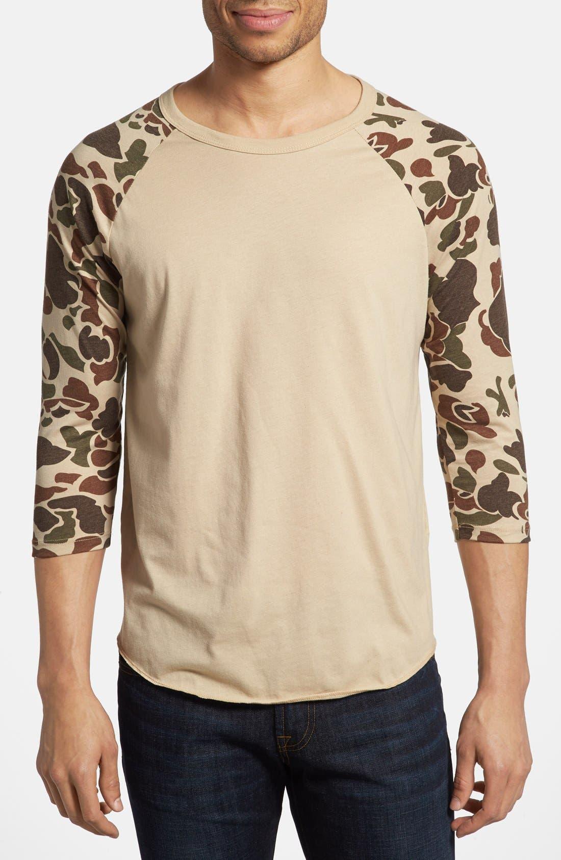Alternate Image 1 Selected - Obey 'Camo' Baseball T-Shirt